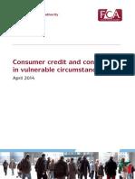 Consumer Credit Customers Vulnerable Circumstances