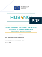 Echo Chambers, Fake News and Populism Consultation - Background Gateway Questions