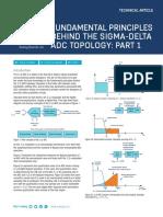 Fundamental Principles Behind the Sigma Delta ADC Topology Part 1