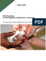 WHO Handhygiene Guideline Ringkasan