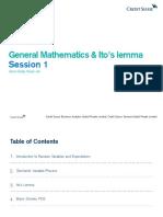 General Mathematics and Ito's Lemma