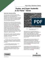 High Alloy Stainless Steels Duplex-super Duplex Anh High Austenitic