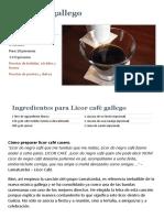 Receta de Licor Café Gallego