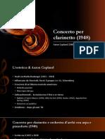 Concerto Per Clarinetto (1948)