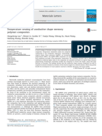Temperature Sensing of Conductive Shape Memory Polymer Composites 2015 Materials Letters