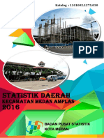 Statistik Daerah Kecamatan Medan Amplas 2016