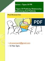 Public Relations – Types of PR