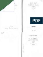 1867 Karl Marx El Capital Libro I 1 Manuel Sacristan