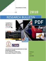 Research Bulletin V1