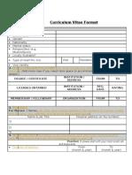 Medicalcv Format
