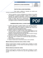 Instructivo Lavado de Material de Laboratorio
