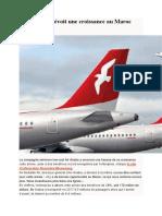 Air Arabia Prévoit Une Croissance Au Maroc Cette Année