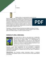 ESENCIAS FLORALES Y PRESCRIPCION