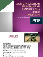 Mari Kita Sukseskan Pekan Imunisasi Nasional ( Pin