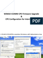 Procedure ICOMM CPE Firmware Upgrade