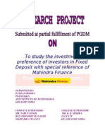 Project on Fixed Deposit