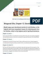 Bhagavad Gita, Chapter 12 Devotional Service