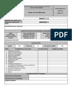 Check List de Vibradora