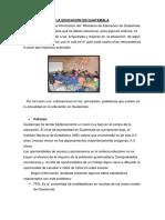 La Educacion en Guatemala Almeria