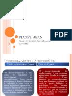PIAGET, JEAN Desenvolvimento e Aprendizagem