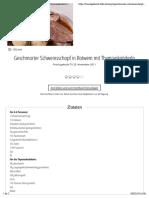 Geschmorter Schweinsschopf in Rotwein mit Thymianknöderln | Frisch Gekocht