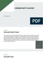 3d skill development journal