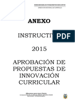 Instructivo Innovación Curricular MINEDUC