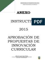 Instructivo Innovación Curricular MINEDUC