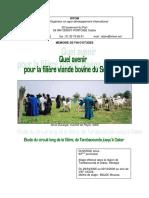 Mémoire Sur l'Évolution de La Filière Viande Bovine Au Sénégal