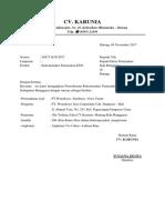Surat Permohonan Cv. Karunia