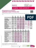 Axe L - Info Trafic Orléans - Etampes (Paris) Grève Du 15 Février 2018