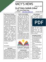 january 26 2018 newsletter