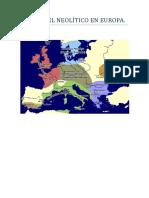 Tema 1. El Neolitico en Europa.