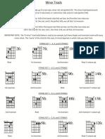 Minor Triad Sheet Music PDF