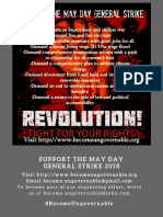 Support the May Day General Strike Online Flyer