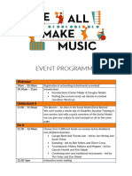 We All Make Music Event Programme
