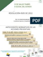 Resolución 4505 de 2012