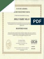 rn license brn certificate