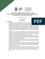 Que sucede con el Programa Nacional de Cancer en Venezuela.pdf