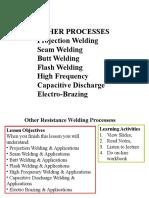 Resistance Welding Processes