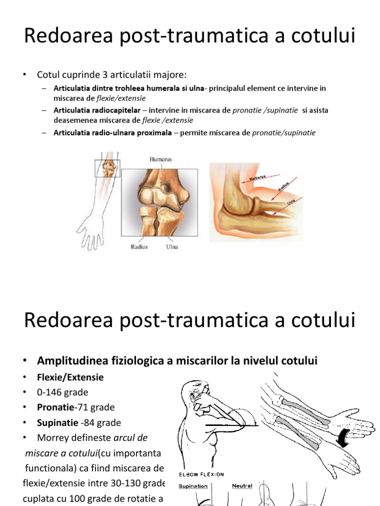 artroza posttraumatică a articulației cotului 3 grade