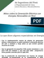 Mitos sobre la Generación Eléctrica con Energias Renovables en Peru-marzo 2013