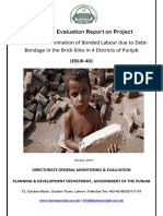 Mid Term Evaluation Report on Project Contribute to Elimination of Bonded Labour due to Debt-Bondage in the Brick Kilns in 4 Districts of Punjab (EBLIK-4D)