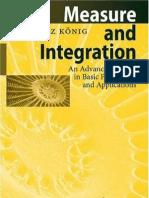 H Koenig - Measure and Integration