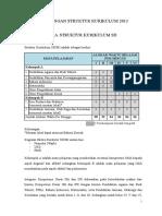 Rancangan Struktur Kurikulum 2013