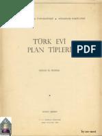 Sedad H. Eldem - Türk Evi Plan Tipleri