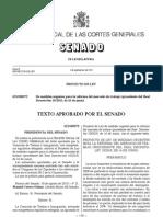 Texto Aprobado por el Senado de Medidas Urgentes para la Reforma del Mercado de Trabajo