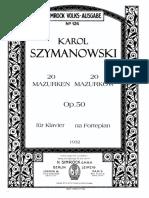 Szymanowski Mazurkas