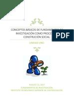 Conceptos Básicos de Fundamentos de Investigación Como Proceso de Construción Social