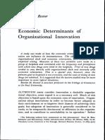(1960) Martin M. Rosner. Economic Determinants of Organizational Innovation